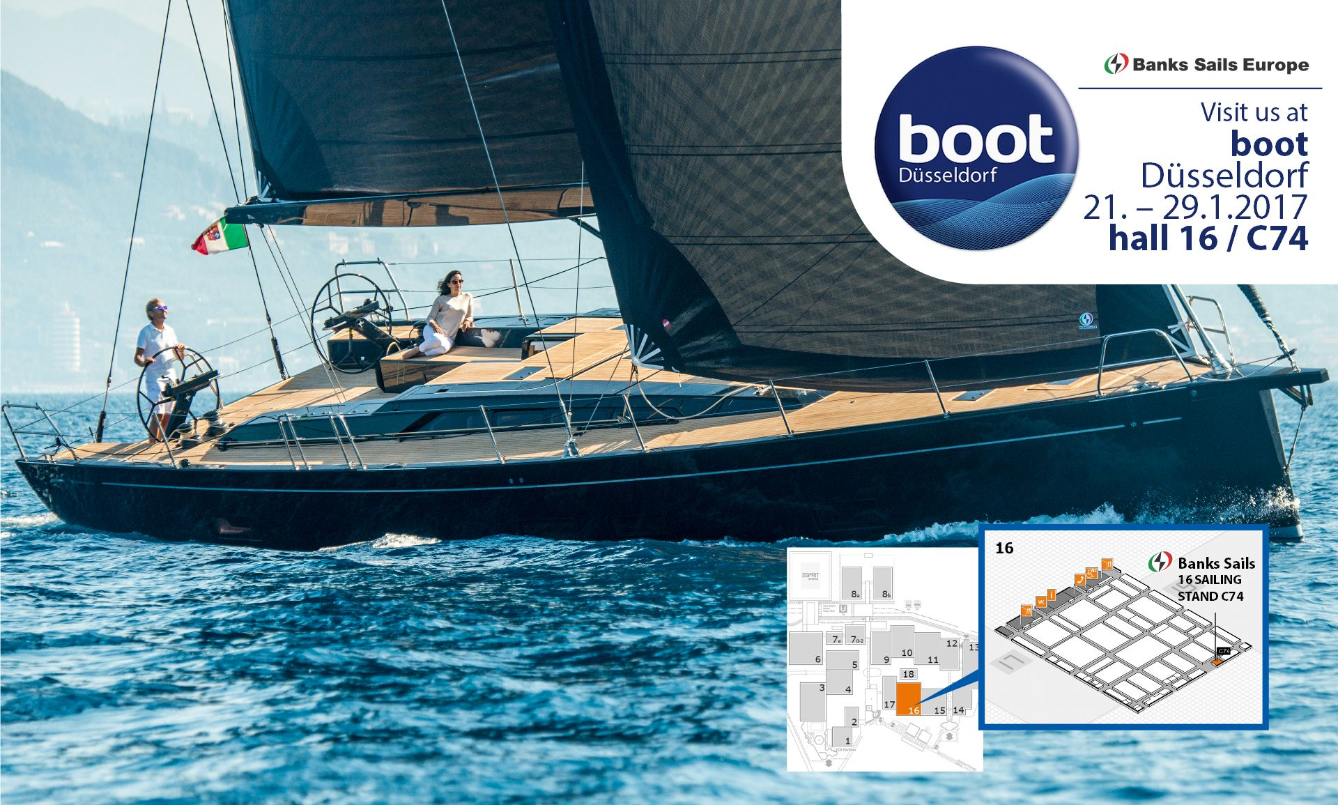 Banks Sails at boot Dusseldorf